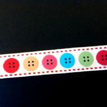 Button Print Grossgrain